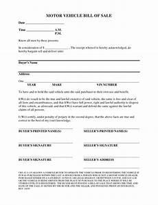Automotive Bill Of Sale Colorado Free Colorado Vehicle Bill Of Sale Form Pdf Docx