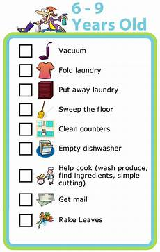 Chore Chart For 6 Year Old Free Printable Chores For 6 9 Year Olds The Trip Clip