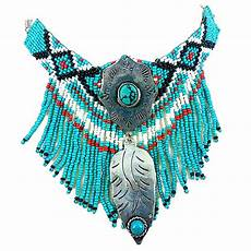 vintage look indian beaded turquoise necklace ebay
