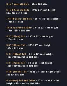 Dirt Bike Tube Size Chart Dirt Bike Sizing Chart Interactive Guide 2019
