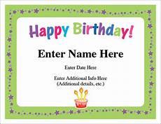 Free Printable Birthday Certificates Happy Birthday Stars Certificate Free Award Certificates
