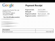 Receipt For The Payment How To Get Payment Receipt Of Google Adsense 2017 Youtube