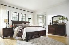 Furniture Porter Bedroom Set Porter Bedroom B697 In Burnished Brown W Storage Bed By