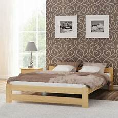 wooden pinewood bed frame 4ft small 120x190 cm