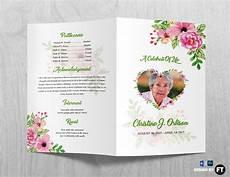 Printable Funeral Programs Funeral Program Template Printable Funeral Program