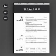 Resume Template Illustrator Resume Template 2 Pages Resume Templates Creative Market