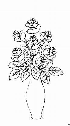 Ausmalbilder Blumenvase Blumenvase Ausmalbild Malvorlage Blumen