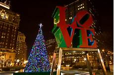 Park In Philly With Lights Christmas In Love Park I Was In Philadelphia This Past