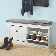 sobuy hallway shoe storage bench cabinet with flip drawer