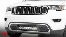 Jeep Grill With Lights Jeep Grand Cherokee Wk2 20 Inch Led Light Bar Hidden