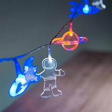 Rocket String Lights Baby Shower Party Decoration Outer Space Led String Lights