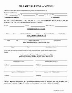 Florida Bill Of Sale Form Free Florida Boat Bill Of Sale Form Pdf Docx