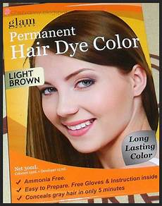 Glam Hair Color Light Brown Lava Bean Glam Works Permanent Hair Dye Color Shampoo In