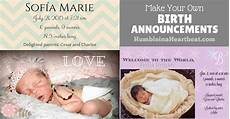 Make Your Own Birth Announcements How To Create Your Own Birth Announcements To Save Money