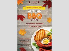 Autumn BBQ Party Free Flyer Template   Best of Flyers