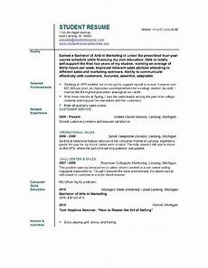 Resume For Graduate Student Student Resume Templates Easyjob