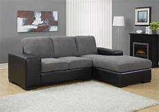 charcoal gray corduroy black sofa sectional from monarch