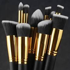 10pc makeup brushes tool set cosmetic eyeshadow