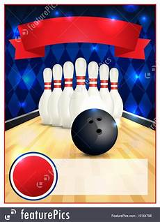 Bowling Flyer Blank Bowling Flyer Template Illustration