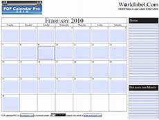 Free Pdf Calendar Template Free 2010 Fillable Calender Pdf Pro Printable Template