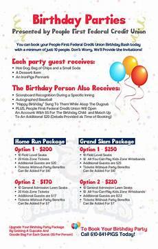 7 Birthday Program People First Birthday Parties Lehigh Valley Ironpigs
