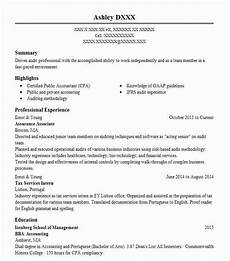 Ernst And Young Resume Sample Assurance Associate Resume Example Pwc Hamden Connecticut