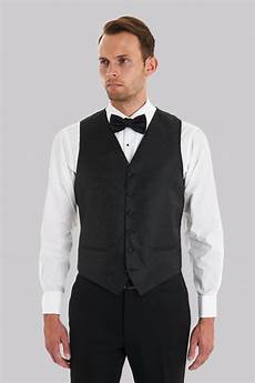 Tie Black Moss 1851 Black Paisley Vest With Matching Bow Tie