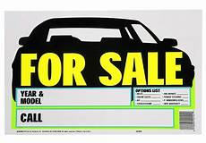 For Sale Sign For Car Car For Sale Sign 9 Quot X 14 Quot Windshield Window Bright Yellow