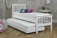 heywood white solid wood guest bed 2ft6 small single