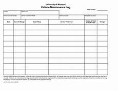Chart Pro Copy Service Printable Vehicle Maintenance Log Template Car