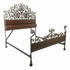 vintage forged iron king size bedframe chairish