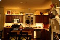 mood lighting in the kitchen from thrifty decor