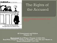 Constitutional Protections For Persons Accused Of Crime Chart Ppt The Rights Of The Accused Powerpoint Presentation