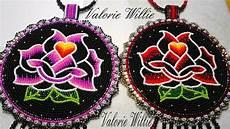 beadwork rose black medallions beadwork indian beadwork
