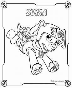 paw patrol coloring pages print and color
