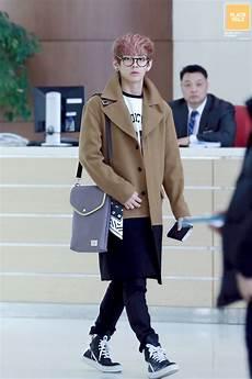 style log 131206 bts v airport fashion navy