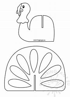 Turkey Printable Template Thanksgiving Turkey Craft Template Printable Coloring Page