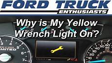 Ford F150 Wrench Light Meaning Ford F Series Why Is My Yellow Wrench Light On Ford Trucks