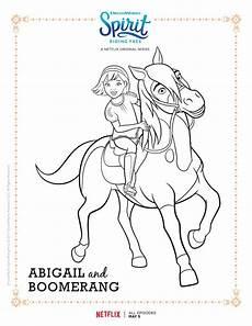 Pferde Ausmalbilder Spirit Spirit Free Abigail And Boomerang Coloring Page