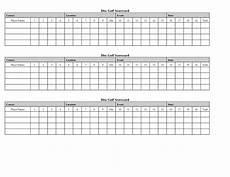 Golf Scorecard Template Golf Score Card Template Golf Scorecard Golf Crafts