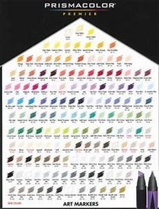 Prismacolor Art Markers Color Chart Copics Prismacolored Pencils On Pinterest Prismacolor