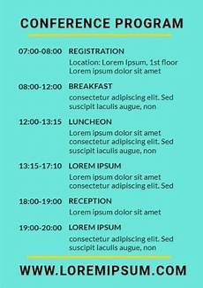 Conference Program Design Template Design Your Own Conference Programs Quickly And Easily