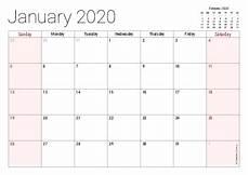12 Months Calendar 2020 Printable Printable 2020 Calendars Pdf Calendar 12 Com
