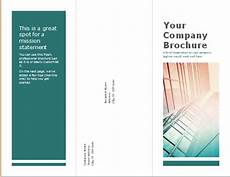 Tri Fold Brochure In Word Tri Fold Brochure Template For Ms Word Word Amp Excel