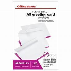 Office Depot Invitations Office Depot Brand Clean Seal Invitation Envelopes 5 34 X