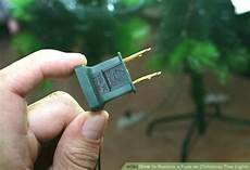 How Do You Change A Fuse In Christmas Lights How To Replace A Fuse On Christmas Tree Lights 9 Steps