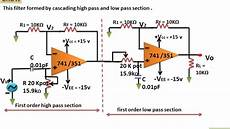 Band Pass Filter Equation Wide Band Pass Filter Using Op Amp ह न द Youtube