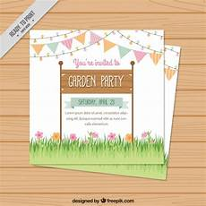 Garden Party Invites Garden Party Invitation Design Vector Free Download