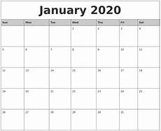 Printable Monthly Calendar January 2020 2020 Monthly Printable Calendars Qualads