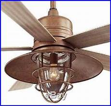 New Rustic Copper Indoor Outdoor Ceiling Fan Light Kit